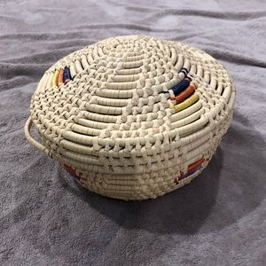 Hand woven Basket with Top